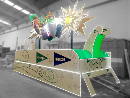 Carroza Cabalgata de Reyes Magos Valencia 2- 2013