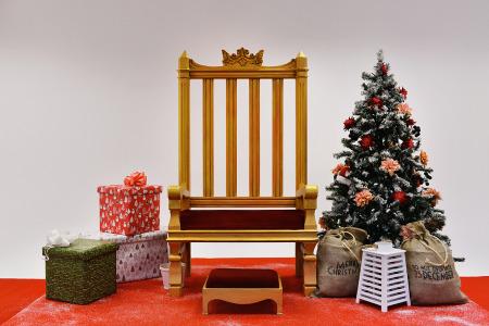 decoracion de trono de rey mago para centro comercial